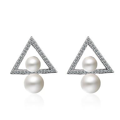 Pentru femei Lux / Boem / Hipoalergenic Diamant sintetic Ștras / Aliaj Cercei Picătură - Personalizat / Lux / Boem Alb neregulat cercei