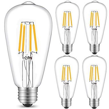 5 stuks 4W 360 lm E27 LED-gloeilampen ST64 4 leds COB Decoratief Warm wit Koel wit AC 220-240V