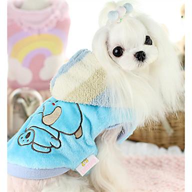 كلب المعاطف ملابس الكلاب دافئ كاجوال/يومي كارتون أرجواني أصفر أزرق زهري كوستيوم للحيوانات الأليفة