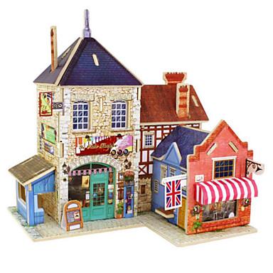 3D - Puzzle Holzpuzzle Haus Architektur 3D Heimwerken Holz Naturholz Geburtstag Unisex Geschenk