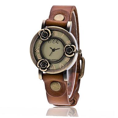 Pentru femei Unic Creative ceas Ceas de Mână Ceas La Modă Ceas Casual Chineză Quartz Ceas Casual Piele Bandă Vintage Casual Elegant Negru