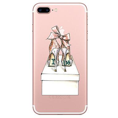 Für iPhone X iPhone 8 Hüllen Cover Transparent Muster Rückseitenabdeckung Hülle Sexy Lady Weich TPU für Apple iPhone X iPhone 8 Plus
