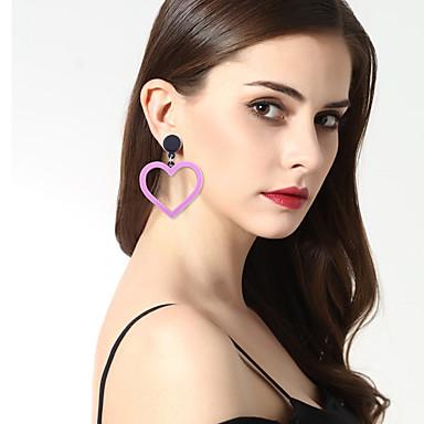 Pentru femei Perechi Desperecheați Lux Nepotrivirea Bijuterii Statement Modă Bikini Aliaj Altele Geometric Shape Inimă Bijuterii Rosu Roz