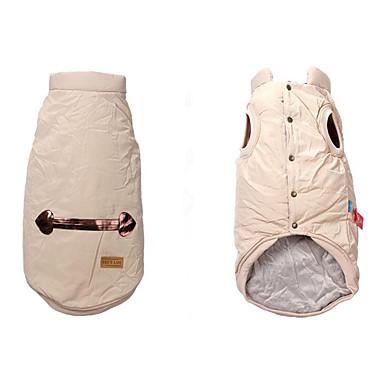 Hund Weste Hundekleidung Warm Atmungsaktiv Lässig/Alltäglich Solide Kostüm Für Haustiere