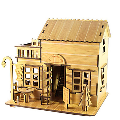 قطع تركيب3D تركيب بناء مشهور بيت معمارية 3D خشب الخشب الطبيعي صبيان للجنسين هدية