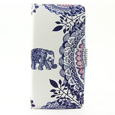 Caz pentru wiko lenny 3 lenny 2 caz acoperă modelul de elefant pu pungi de piele pentru apus de soare wiko 2