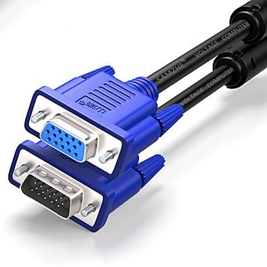 Samzhe VGA Verlengingskabel, VGA to VGA Verlengingskabel Mannelijk - Vrouwelijk Vernikkeld staal 10,0 miljoen (30ft)