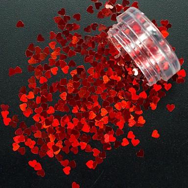 1pcs moda sclipici inima forma paiete 3d minunat roșu clasic forma inimii design unghii art diy frumusete paiete decorare unghii salon