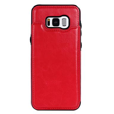 Maska Pentru Samsung Galaxy S8 Plus S8 Titluar Card Cu Stand Capac Spate Culoare solidă Greu PU piele pentru S8 Plus S8 S7 edge S7