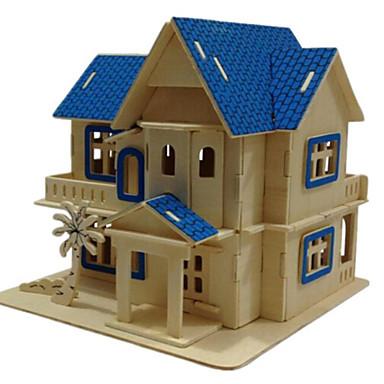 قطع تركيب3D تركيب الخشب نموذج ألعاب بناء مشهور بيت معمارية 3D خشب الخشب الطبيعي للجنسين الفتيان قطع