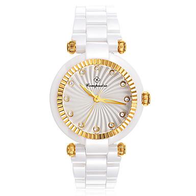 Pentru femei Ceas Elegant  Ceas La Modă Chineză Quartz Mare Dial Ceramică Bandă Sclipici Alb Maro