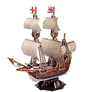 قطع تركيب3D تركيب سفينة حربية سفينة الخشب الطبيعي للجنسين هدية