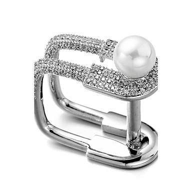 Bărbați Pentru femei Inele Midi Zirconiu Cubic Nepotrivirea Perle Zirconiu Argilă Bijuterii Pentru Nuntă Crăciun Anul Nou