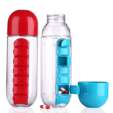 Beber garrafas bebê medicina armazenamento copo tablet recipiente crianças ware copos crianças drinkware plástico cor aleatória