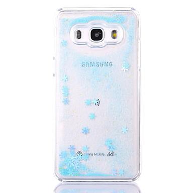 Maska Pentru Samsung Galaxy J7 (2016) J5 (2016) Scurgere Lichid Transparent Model Carcasă Spate Model Geometric Greu PC pentru J7 (2016)