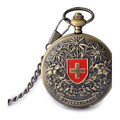 Pentru femei Ceas de buzunar Mecanism automat Gravură scobită Aliaj Bandă Bronz