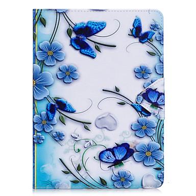 Case voor Samsung Galaxy T280 T580 case cover vlinderpatroon pu materiaal triple tablet pc geval telefoon hoesje
