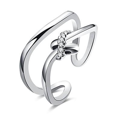 Dames manchet Ring Kubieke Zirkonia Zirkonia Gepersonaliseerde Luxe Klassiek Vintage Bohémien Standaard Gothic Eenvoudige Stijl Modieus