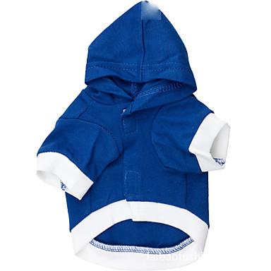 كلب هوديس ملابس الكلاب حرف وعدد أزرق أزرق فاتح قطن كوستيوم للحيوانات الأليفة للرجال للمرأة كاجوال/يومي