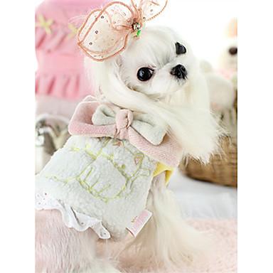 Hund Weste Hundekleidung Warm Lässig/Alltäglich Tier Weiß Grau Rosa Kostüm Für Haustiere