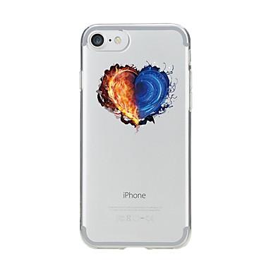 Maska Pentru Apple iPhone 7 Plus iPhone 7 Transparent Model Capac Spate Inimă Moale TPU pentru iPhone 7 Plus iPhone 7 iPhone 6s Plus