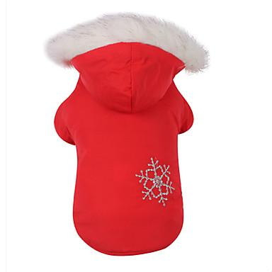 Hund Kapuzenshirts Hundekleidung Lässig/Alltäglich Schneeflocke Braun Rot Kostüm Für Haustiere