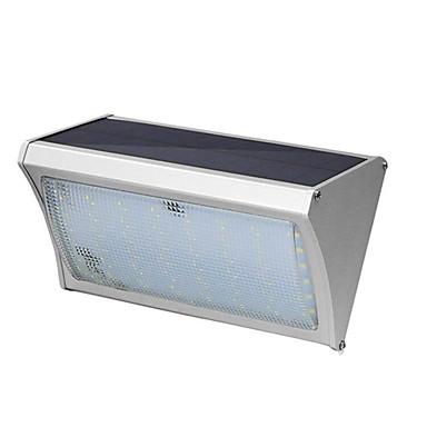 56 ليد الشمسية التعريفي سبائك الألومنيوم الجدار مصباح 8 واط مع التحكم عن فناء شرفة أضواء