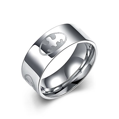 للرجال الفولاذ المقاوم للصدأ خاتم - دائري تصميم دائري فضي حلقة من أجل يوميا فضفاض