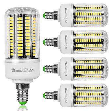 8W 800 lm E12 Becuri LED Corn T 136 led-uri SMD 5733 Decorativ Alb Rece AC 110-130V