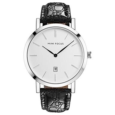 Bărbați Ceas La Modă Quartz Piele Autentică Bandă Casual minimalist Negru Maro