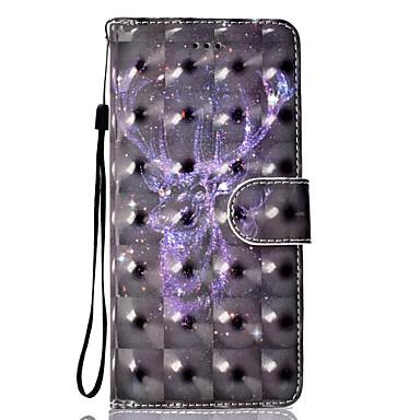hoesje Voor Samsung Galaxy S8 Plus S8 Kaarthouder Portemonnee met standaard Flip Magnetisch Patroon Volledig hoesje Hemel Hard PU-nahka