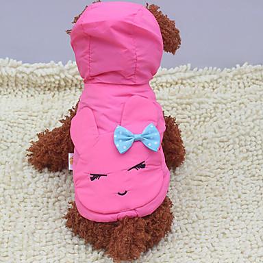 Hond Hoodies Gilet Hondenkleding Strik Geel Fuchsia Blauw Katoen Kostuum Voor huisdieren Heren Dames Casual / Dagelijks
