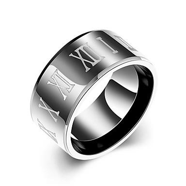 Bărbați Inel Bijuterii Design Circular Oțel inoxidabil Rotund Bijuterii Zilnic Casual
