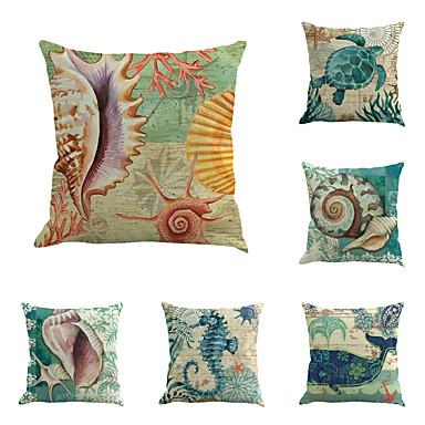 6 buc Bumbac/In Modă Animal Noutate Vintage Modern Calitate superioară O noua sosire Cool Stiluri de Plajă Mediteranean Neoclasic Retro