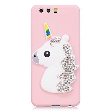 Caz pentru huawei p10 p10 plus coperta caz stras curcubeu unicorn stereo model bomboane tpu caseta de telefon pentru huawei p10