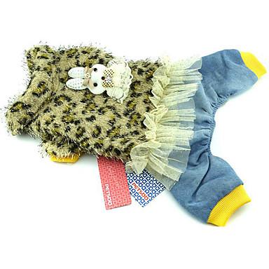 كلب حللا ملابس الكلاب جلد نمر أصفر فوشيا البوليستر بطانة فرو كوستيوم للحيوانات الأليفة للرجال للمرأة كاجوال/يومي