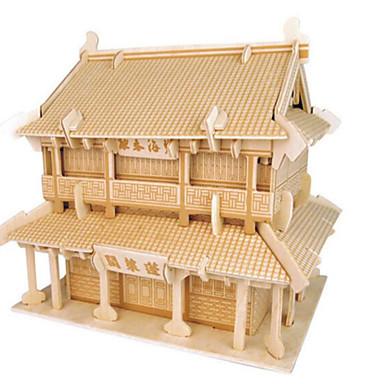 قطع تركيب3D تركيب النماذج الخشبية مجموعات البناء بناء مشهور معمارية 3D اصنع بنفسك خشب الخشب الطبيعي كلاسيكي استايل صيني للجنسين هدية