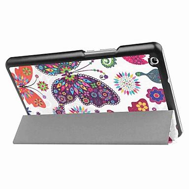 Pictura model de trei ori pungă din piele pu cu stand pentru huawei mediapad mc 8,4 inch tablet pc