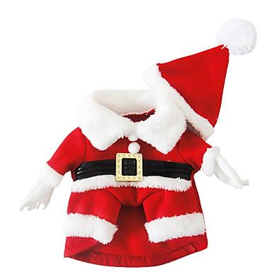 كلب ازياء تنكرية ملابس الكلاب الكوسبلاي عيد الميلاد المجيد أحمر