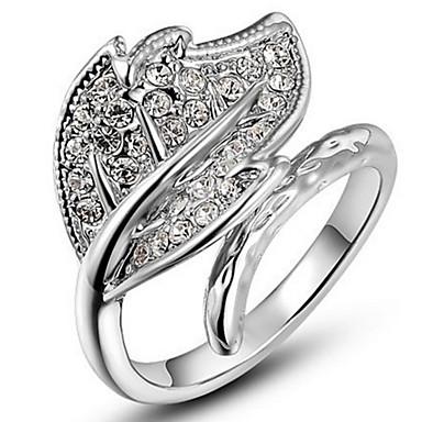 Dames Bandring Kristal Gepersonaliseerde Luxe Klassiek Standaard Sexy Liefde Elegant leuke Style Modieus Kristal Legering Bladvorm