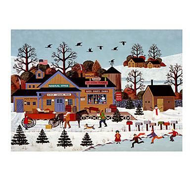Holzpuzzle Weihnachten Haus Pferd Hölzern Holz Unisex Geschenk