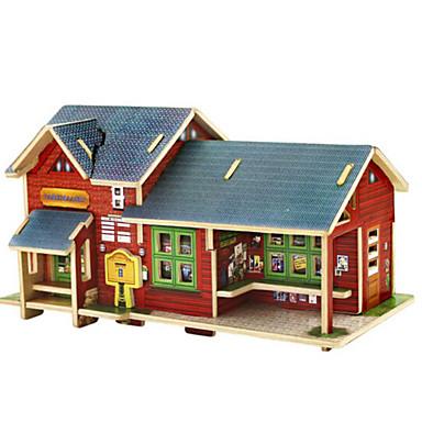 3D - Puzzle Holzpuzzle Spielzeuge Haus Architektur 3D Heimwerken Holz Naturholz Unisex Stücke