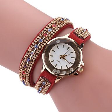 Pentru femei Unic Creative ceas Ceas Brățară Ceas La Modă Chineză Quartz imitație de diamant PU Bandă Charm Casual Boem Elegant Negru Alb