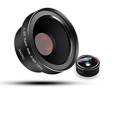 bluecase obiectiv mobil telefon 180 lentilă ochi de pește 0.45x obiectiv cu unghi larg obiectiv macro aluminiu 52mm aluminiu pentru ndroid