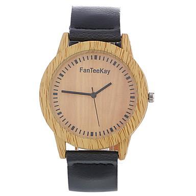 Bărbați Pentru femei Ceas La Modă Ceas de Mână Unic Creative ceas Ceas Lemn Chineză Quartz Piele Bandă Vintage Charm Casual Elegant Negru