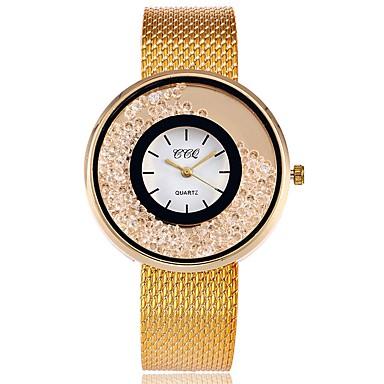 Pentru femei Ceas Elegant Ceas La Modă Simulat Diamant Ceas Japoneză Quartz Aliaj Bandă Charm Casual Luxos Elegant Argint Auriu Roz auriu