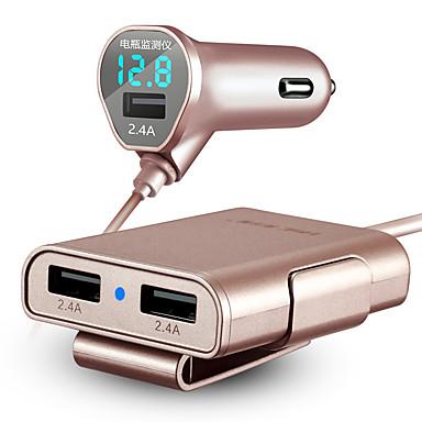 hsc 600 încărcător de mașină afișare tensiune încărcare rapidă 3 porturi USB 4.8a dc 12v-24v