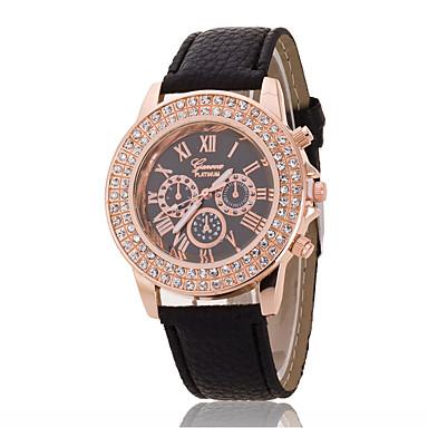 Pentru femei Ceas La Modă Ceas de Mână Simulat Diamant Ceas Chineză Quartz imitație de diamant PU Bandă Charm Casual Elegant Negru Alb