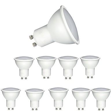 10 piese 6W 600 lm GU10 Spoturi LED MR16 1 led-uri COB Intensitate Luminoasă Reglabilă Decorativ Alb Cald Alb Rece AC 220-240V