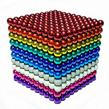 216/512/1000 pcs 5mm Magnet Toy Magnetic Balls Building Blocks Super Strong Rare-Earth Magnets Neodymium Magnet Stress and Anxiety Relief Office Desk Toys DIY Kid's / Adults' Unisex Boys' Girls' Toy